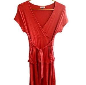   ZA ZEN    Medium Stretchy Wrap Layered Dress